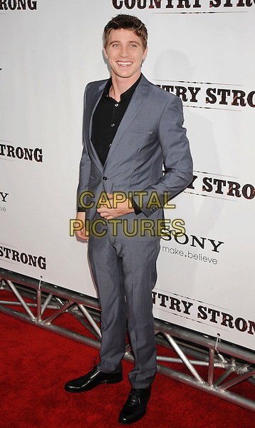 "GARRETT HEDLUND.""Country Strong"" Los Angeles Special Screening held at The Academy of Motion Picture Arts & Sciences, Beverly Hills, California, USA..December 14th, 2010.full length shirt suit black grey gray.CAP/ROT/TM.©Tony Michaels/Roth Stock/Capital Pictures"