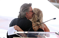 HOLLYWOOD, CA - MAY 04: Kurt Russell and Kate Hudson pictured at the ceremony honoring Goldie Hawn and Kurt Russell with a double star ceremony on The Hollywood Walk of Fame on May 4, 2017 in Hollywood, California. Credit: Faye Sadou/MediaPunch