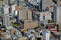aerial photograph Nob Hill San Francisco, California