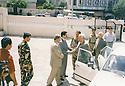 Iraq 2003<br /> Kosrat Rassul welcoming Fuad Aref in Suleimania<br /> Irak 2003 <br /> Kosrat Rassul accueillant Fuad Aref a Suleimania