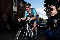 Picture by Alex Whitehead/SWpix.com - 14/05/2017 - Cycling - 2017 HSBC UK | Spring Cup Road Series - Lincoln Grand Prix - Brother NRG Driverplan's x climbs Michaelgate cobbles.