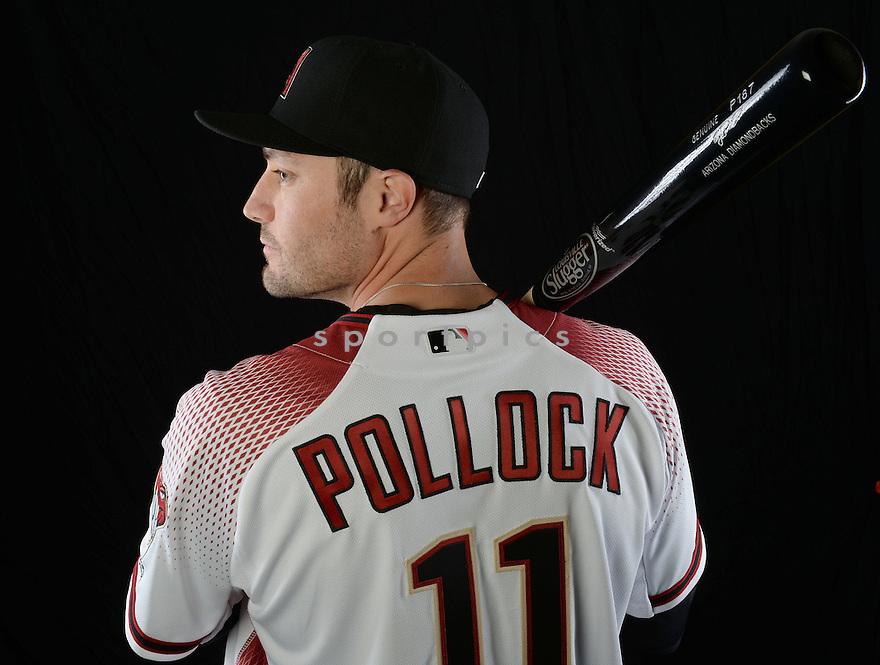 Arizona Diamondbacks AJ Pollock (11) during photo day on February 28, 2016 in Scottsdale, AZ.