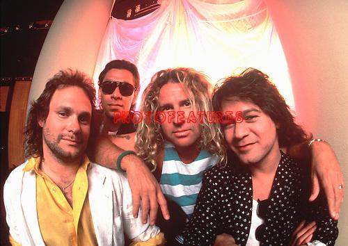 Van Halen 1988 Michael Anthony, Alex Van Halen, Sammy Hagar and Eddie Van Halen