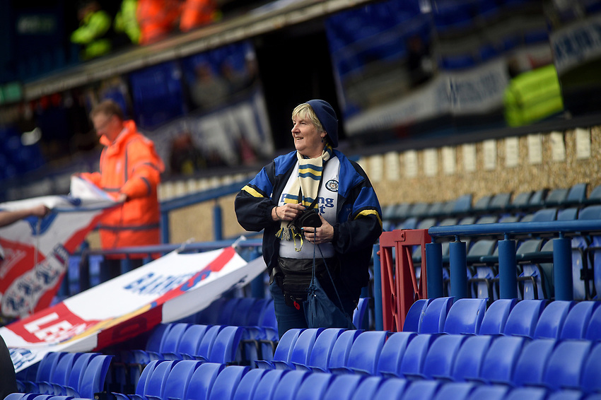 fans enjoy the pre-match atmosphere <br /> <br /> Photographer Hannah Fountain/CameraSport<br /> <br /> The EFL Sky Bet Championship - Ipswich Town v Leeds United - Sunday 5th May 2019 - Portman Road - Ipswich<br /> <br /> World Copyright © 2019 CameraSport. All rights reserved. 43 Linden Ave. Countesthorpe. Leicester. England. LE8 5PG - Tel: +44 (0) 116 277 4147 - admin@camerasport.com - www.camerasport.com