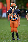 AYA Blue Devils youth football game against the PYA Dragons at Attica Youth Athletics Field on September 7, 2013 in Attica, New York. (Copyright Mike Janes Photography)
