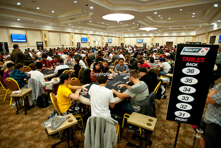 A view of the tournament area on Day 1A.