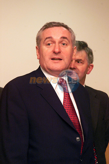 An Taoiseach, Bertie Ahern..Picture Paul Mohan Newsfile