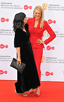 Claudia Winkleman and Tess Daly at the British Academy (BAFTA) Television Awards 2019, Royal Festival Hall, Southbank Centre, Belvedere Road, London, England, UK, on Sunday 12th May 2019.<br /> CAP/CAN<br /> ©CAN/Capital Pictures