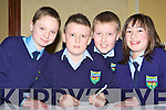 Eoin Fitzgerald, Conor Kearney, David Carroll, Alice Culloty Tiernaboul NS Killarney at the Credit Union quiz in the the Gleneagle Hotel Killarney on Sunday