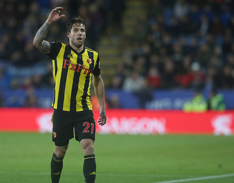 Watford's Kiko Femenia <br /> <br /> Photographer Stephen White/CameraSport<br /> <br /> The Premier League - Leicester City v Watford - Saturday 1st December 2018 - King Power Stadium - Leicester<br /> <br /> World Copyright © 2018 CameraSport. All rights reserved. 43 Linden Ave. Countesthorpe. Leicester. England. LE8 5PG - Tel: +44 (0) 116 277 4147 - admin@camerasport.com - www.camerasport.com