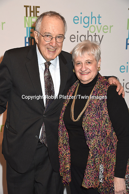 Honoree Stephen Solender  and wife Elsa Solender attend The New Jewish Home Gala Honoring 8 Over 80 on March 12, 2018 at the Ziegfeld Ballroom in New York, New York, USA.<br /> <br /> photo by Robin Platzer/Twin Images<br />  <br /> phone number 212-935-0770