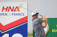 Ryan Fox (NZL) on the 10th tee during Round 3 of the HNA Open De France at Le Golf National in Saint-Quentin-En-Yvelines, Paris, France on Saturday 30th June 2018.<br /> Picture:  Thos Caffrey | Golffile