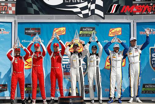 IMSA WeatherTech SportsCar Championship<br /> Sahlen's Six Hours of the Glen<br /> Watkins Glen International, Watkins Glen, NY USA<br /> Sunday 2 July 2017<br /> 63, Ferrari, Ferrari 488 GT3, GTD, Alessandro Balzan, Christina Nielsen, Matteo Cressoni 93, Acura, Acura NSX, GTD, Andy Lally, Katherine Legge 96, BMW, BMW M6 GT3, GTD, Justin Marks, Jens Klingmann podium<br /> World Copyright: Michael L. Levitt/LAT Images