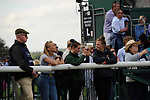 Stamford, Lincolnshire, United Kingdom, 8th September 2019, Team members watch the proceedings as Ben Hobday competes during the Show Jumping Phase on Day 4 of the 2019 Land Rover Burghley Horse Trials, Credit: Jonathan Clarke/JPC Images