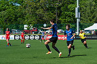 Kansas City, MO - Saturday May 13, 2017: Yael Averbuch, Becca Moros during a regular season National Women's Soccer League (NWSL) match between FC Kansas City and the Portland Thorns FC at Children's Mercy Victory Field.