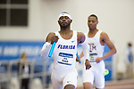 COLLEGE STATION, TX - MARCH 11: Eric Futch of Florida runs in the men's 4x400 meter relay during the Division I Men's and Women's Indoor Track & Field Championship held at the Gilliam Indoor Track Stadium on the Texas A&M University campus on March 11, 2017 in College Station, Texas. (Photo by Michael Starghill/NCAA Photos/NCAA Photos via Getty Images)