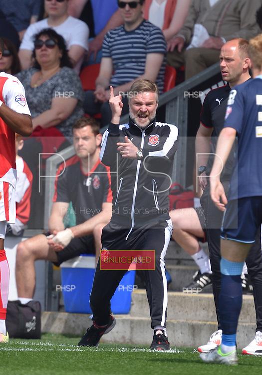08/05/2016 Sky Bet League 1 Fleetwood Town v <br /> Crewe Alexandra<br /> Steven Pressley