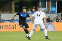 SAN JOSE, CA - JULY 06: Shea Salinas #6 during a Major League Soccer (MLS) match between the San Jose Earthquakes and Real Salt Lake on July 06, 2019 at Avaya Stadium in San Jose, California.