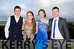 Enjoying a great time at the Milltown Presentation Debs at Ballyroe Heights Hotel on Tuesday were Sean Foley, Sarah Sayers, Sarah Jennings and Cathal Talbot