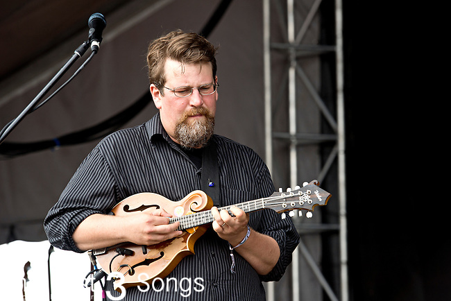 Erik Berry of Trampled by Turtles performs during the Forecastle Music Festival at Waterfront Park in Louisville, Kentucky.