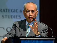 Washington, DC - April 15, 2016: The Honorable Yoichi Masuzoe, Governor of Tokyo, speaks about the challenges facing Tokyo during a discussion at the Center for Strategic and International Studies in the District of Columbia, April 15, 2016.  (Photo by Don Baxter/Media Images International)
