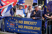 Stop the Coup.  Campaigners for and against Brexit demonstrate outside Parliament on the day MPs voted to take control of the order paper, Westminster, London.