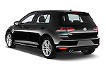 Car pictures of rear three quarter view of a 2014 Volkswagen GOLF GTD 5 Door Hatchback Angular Rear