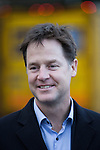 © Joel Goodman - 07973 332324 . 15/01/2015 . Stockport , UK . Deputy Prime Minister NICK CLEGG meets residents of Hazel Grove and Lib Dem PPC Lisa Smart , who is standing in place of outgoing Lib Dem MP for Hazel Grove , Andrew Stunell . Photo credit : Joel Goodman