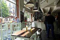 A modern coffee shop in Seville Spain