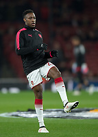 Danny Welbeck of Arsenal warms up during the UEFA Europa League round of 16 2nd leg match between Arsenal and AC Milan at the Emirates Stadium, London, England on 15 March 2018. Photo by Vince  Mignott / PRiME Media Images.
