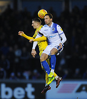 Fleetwood Town's Ashley Hunter vies for possession with Bristol Rovers' Alex Rodman<br /> <br /> Photographer Kevin Barnes/CameraSport<br /> <br /> The EFL Sky Bet League One - Bristol Rovers v Fleetwood Town - Saturday 22nd December 2018 - Memorial Stadium - Bristol<br /> <br /> World Copyright © 2018 CameraSport. All rights reserved. 43 Linden Ave. Countesthorpe. Leicester. England. LE8 5PG - Tel: +44 (0) 116 277 4147 - admin@camerasport.com - www.camerasport.com