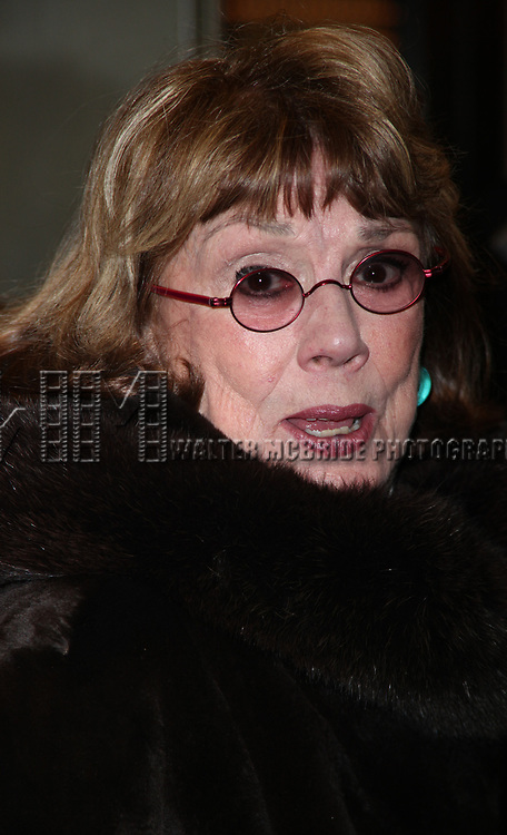 Phyllis Newman arriving for the Opening Night Performance of PRESENT LAUGHTER at the Roundabout Theatre Company's American Airlines Theatre in New York City.<br />