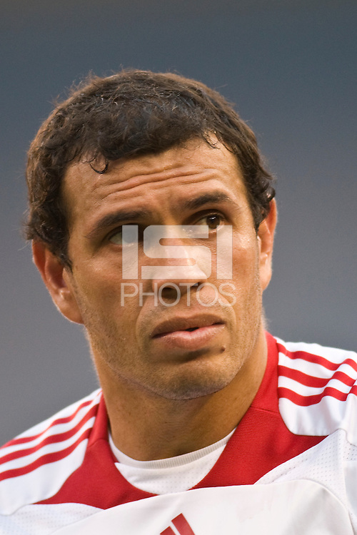 New York Red Bulls midfielder Jorge Rojas (13). The New York Red Bulls defeated Toronto FC 2-0 during a Major League Soccer match at Giants Stadium in East Rutherford, NJ, on August 17, 2008.