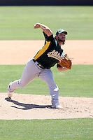 Andrew Carignan, Oakland Athletics 2010 minor league spring training..Photo by:  Bill Mitchell/Four Seam Images.
