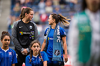 Seattle, WA - Sunday, August 13, 2017: Lauren Barnes during a regular season National Women's Soccer League (NWSL) match between the Seattle Reign FC and the North Carolina Courage at Memorial Stadium.