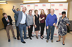 Michael Benz, Charles Turner, Darren Goldstein, Richard Thomas, Cynthia Nixon, Laura Linney, Lyla Porter- Follows, Michael McKean, Caroline Stefanie Clay and David Alford attend the cast photo call for the Manhattan Theatre Club's New Broadway Production of 'The Little Foxes' at the MTC Rehearsal studios on February 27, 2017 in New York City.