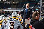 Stockholm 2013-12-07 Ishockey Elitserien AIK - Skellefte&aring; AIK :  <br /> Skellefte&aring;s assisterande tr&auml;nare Bert Robertsson jublar med Skellefte&aring;s Niclas Burstr&ouml;m efter att Skellefte&aring;s Joakim Lindstr&ouml;m gjort 3-1 i &ouml;ppen m&aring;lbur<br /> (Foto: Kenta J&ouml;nsson) Nyckelord:  AIK Skellefte&aring; SAIK jubel gl&auml;dje lycka glad happy