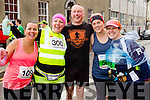 Grainne Power, Claire Leane, Danny Leone, Laura O'Keeffe and Ashley O'Shea at the start of the Kerry's Eye Tralee, Tralee Half Marathon on Saturday.