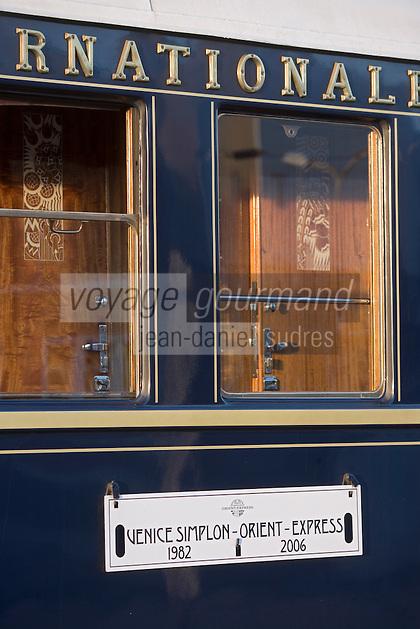 Europe/République Tchèque/Prague:Wagon lit de l'Orient-Express Train de Luxe qui assure la liaison Calais,Paris , Prague,Venise [Non destiné à un usage publicitaire - Not intended for an advertising use]