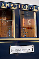 Europe/République Tchèque/Prague:Wagon lit de l'Orient-Express Train de Luxe qui assure la liaison Calais,Paris , Prague,Venise [Non destiné à un usage publicitaire - Not intended for an advertising use]