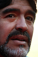 Diego Maradona coach of Argentina during game against South Korea