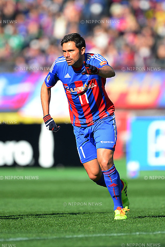 Edu (FC Tokyo),<br /> MARCH 8, 2014 - Football / Soccer :<br /> 2014 J.League Division 1 match between F.C.Tokyo 1-1 Ventforet Kofu at Ajinomoto Stadium in Tokyo, Japan. (Photo by AFLO)