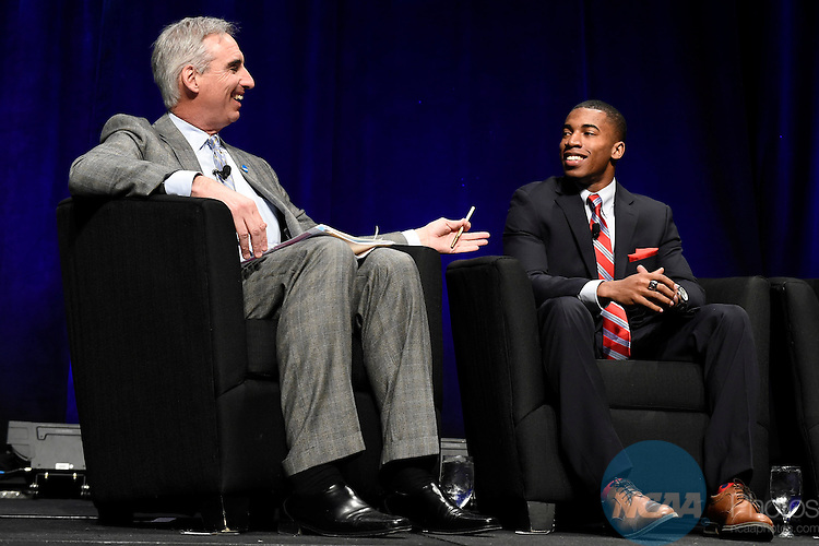 15 JAN 2015: The NCAA Keynote Luncheon takes place at the 2015 NCAA Convention held at the Gaylord National Resort and Convention Center in National Harbor, MD. Justin Tafoya/NCAA Photos (Pictured: Kendall Spencer)