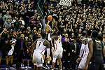 The University of Washington men's basketball team plays Arizona on February 3, 2018. (Photography by Scott Eklund/Red Box Pictures)