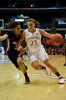LOS ANGELES, CA - March 11, 2011:  Stanford's Jeanette Pohlen during the semi-final game of the 2011 Pac-10 Tournament game against the Arizona Wildcats at Staples Center.  Stanford won, 100-71.