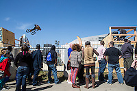 Austin's SXSW is home of the extreme sporting event of BMX half pipe ramp riding of worldwide fame.