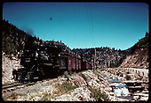RGS #42 hauling southbound freight between  Brown and Old Placerville.<br /> RGS  Omega (near), CO  Taken by Jackson, Richard B. - 7/6/1939