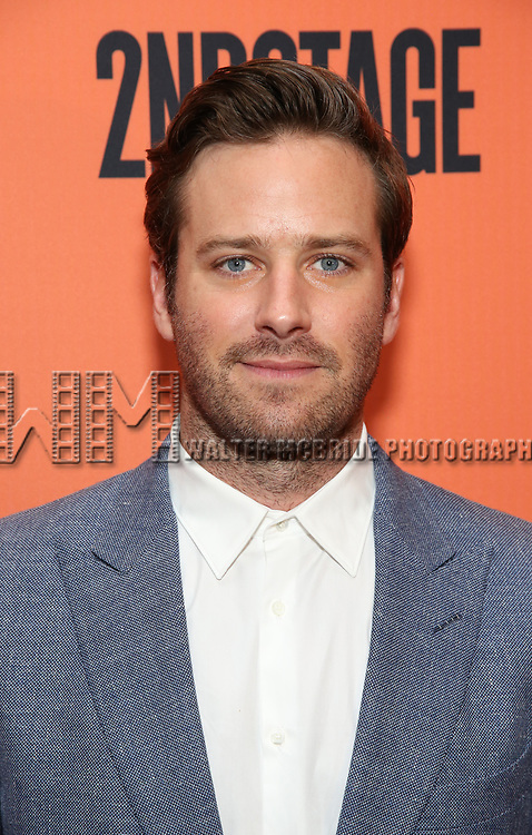 Armie Hammer attend the Broadway Opening Night after party for 'Straight White Men' Broadway Opening Night at DaDong on July 23, 2018 in New York City