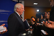 January 14, 2013  (Washington, DC)  Rep. Mike Thompson (D-CA) speaks to the media after a gun violence forum sponsored by the Center for American Progress in Washington. (Photo by Don Baxter/Media Images International)