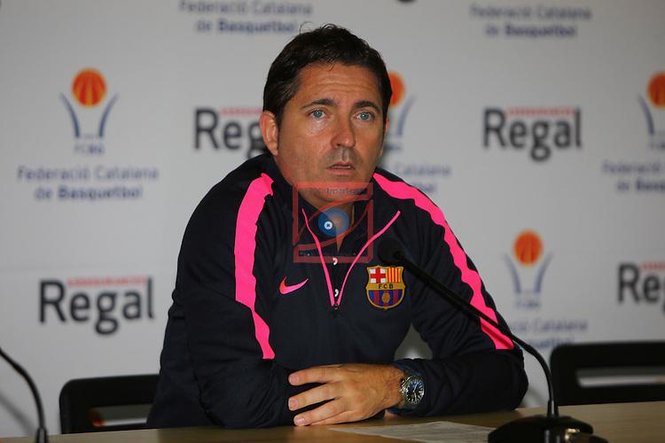 Regal XXXV Llia Nacional Catalana ACB 2014-Semifinals.<br /> FC Barcelona vs La Bruixa d'Or Manresa: 82-66.<br /> Xavi Pascual.